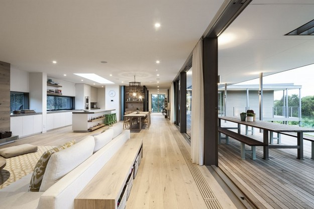 Mornington peninsula home by jam architects mafi for Open plan house designs australia